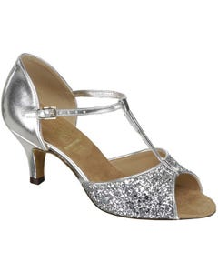 Supadance Classic Latin T-Bar Sparkle Sandal (Regular Width)