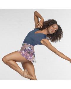 Ballet Rosa Floral Print Mesh Wrap Skirt