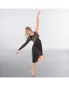 1st Position Prestige Asymmetrical Sleeve Lyrical Dress