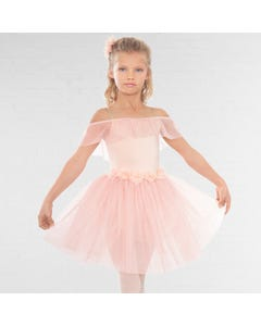 1st Position Romantic Tutu with Flowers and Glitter Net Skirt