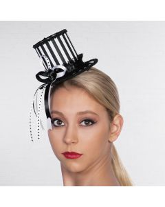 Harlequin Striped Mini Tall Hat