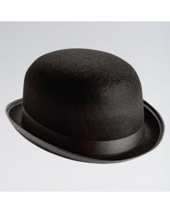 Black Felt Bowler Hat