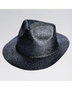 Glitter Trilby Hat (Black)