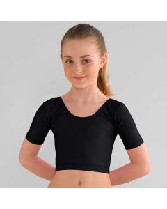 1st Position Midi Short Sleeved Dance Top