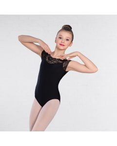 1st Position Lace Top Fashion Leotard