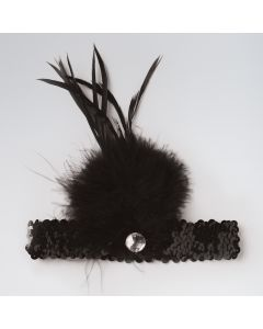 Sequin Feather Headband