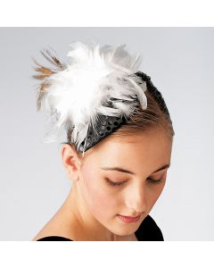 Sequin & Feather Teardrop Headdress