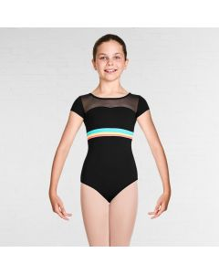 Bloch Isa Gelato Stripe Sweetheart Neckline Cap Sleeve Leotard