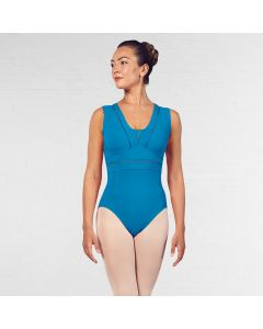 Bloch V Neckline Ladder Trim Mesh Back Tank Leotard