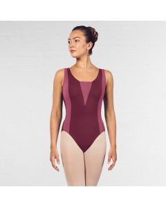 Bloch Esrah Contrast Colour Panelled Open Back Tank Leotard