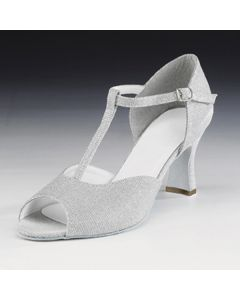 1st Position Silver Glitter Cabaret Shoes
