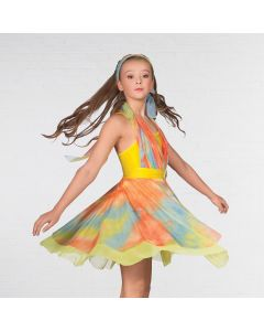 1st Position Multi-Way Tie-Dye Lyrical Dress