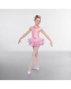 1st Position Pink Lace Cap Sleeved Ballet Tutu