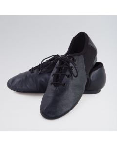 1st Position Split Sole Jazz Shoes with Rubber Heel & Suede Sole