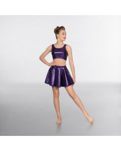 1st Position Metallic Circular Skirt Purple