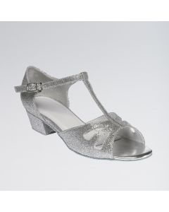 Millie Sparkling Silver Glitter Finish Childrens Shoe
