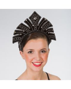 Black Carnival Headdress with Gems