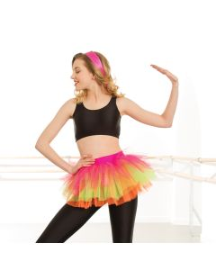 Multi Neon Tutu Skirt - Adult One Size