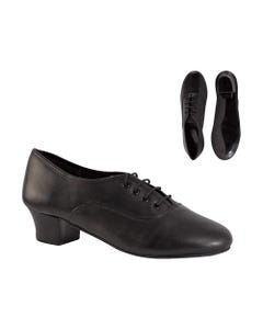 Oxford Leather Cuban Heel Shoes
