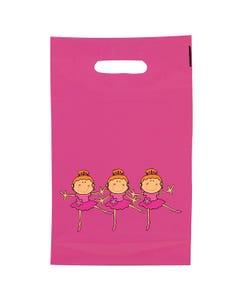 Small Carrier Bags Little Ballerinas Pk 50