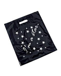 """Black Carrier Bag with """"I'm a star"""" Logo (Pack of 50)"""