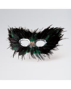 Feather Mask (Green)