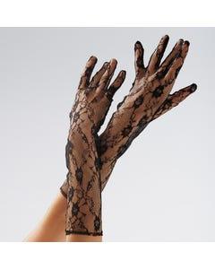 Black Lace Long Gloves